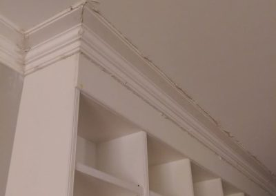 These cornices in a Croydon townhouse are looking old and worn out