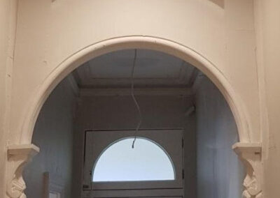 archway plastering job in Surry Hills, 2010