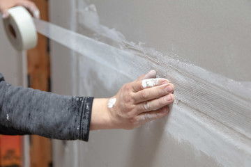 DIY plastering in Sydney -Taping the drywall join